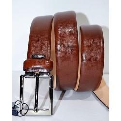 Miguel Bellido: Cinturón piel grabada 32 mm.