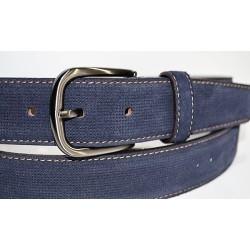 Miguel Bellido: Cinturón de 35 mm. azul marino