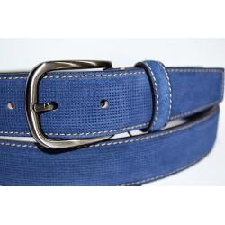 Miguel Bellido: Cinturón de 35 mm. azul