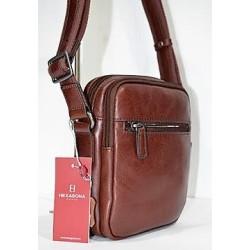 HEXAGONA: Bolso de caballero de piel 20cm.