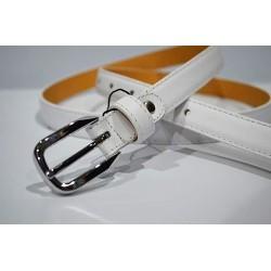 ELIAL: Cinturón sra. piel 2 cm. blanco