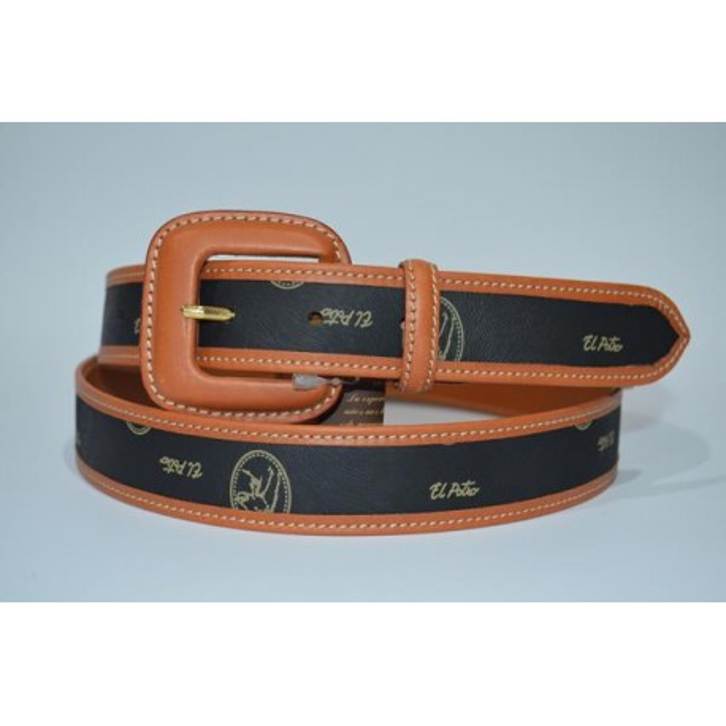 El Potro 1011: Cinturón sra. lona/piel 3 cm.