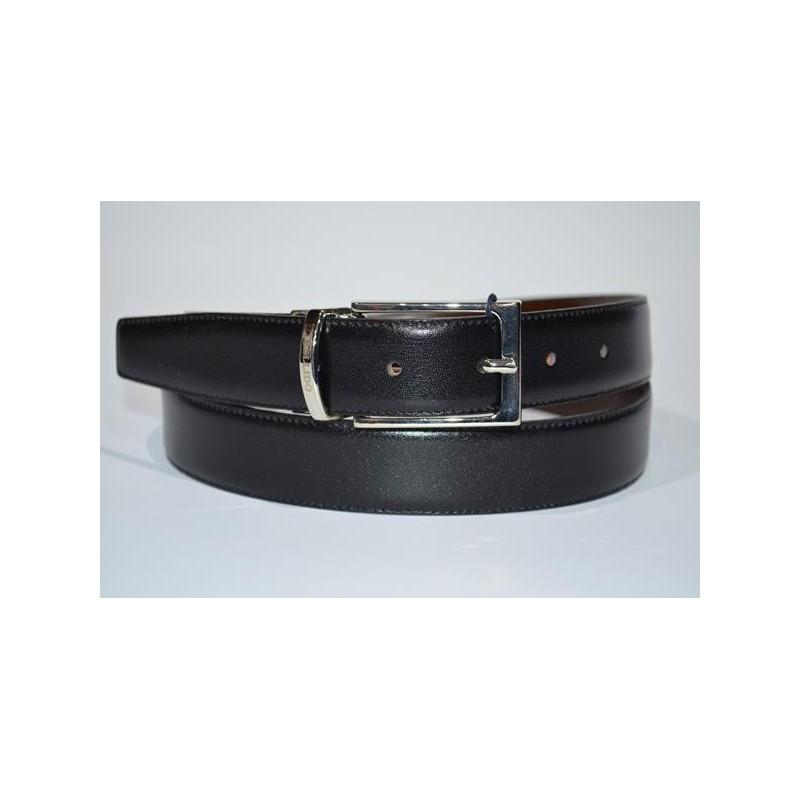 Miguel Bellido: Cinturón reversible de piel 30 mm.
