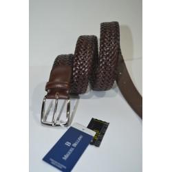 Miguel Bellido: Cinturón trenzado elástico 398-35 MARRÓN