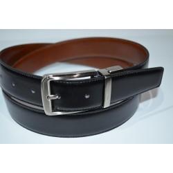 Miguel Bellido: Cinturón reversible 100481/ 32mm negro/cuero