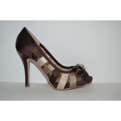 Paula Soler: Zapato de fiesta marrón/beig