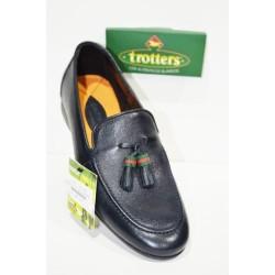 Trotters: Zapatos cómodos piel suave, azul marino.