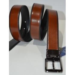 Miguel Bellido: Cinturón reversible negro/cuero