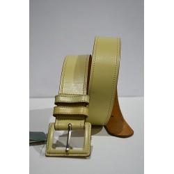 ROBERTO BELLIDO: Cinturón 4 cm. Beige