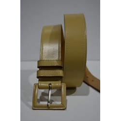 ROBERTO BELLIDO: Cinturón 4 cm. Camel
