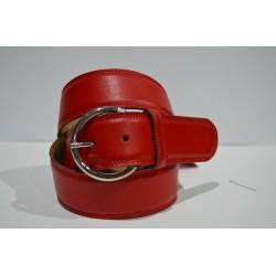 ROBERTO BELLIDO: Cinturón 4 cm. rojo