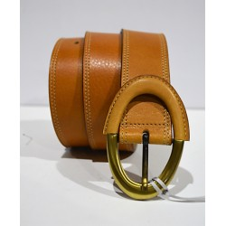 ROBERTO BELLIDO: Cinturón 3.7 cm. avellana