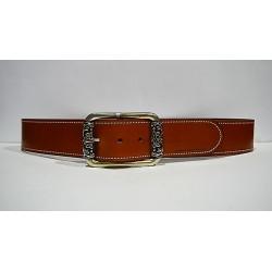 ROBERTO BELLIDO: Cinturón de vaquetilla de 5 cm.