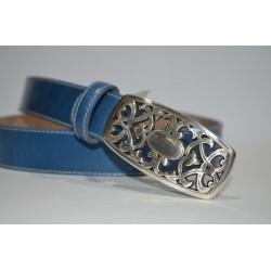 ELIAL: Cinturón sra. azul 3 cm.