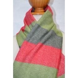 Bufanda de Grazalema rayas verde/rojo