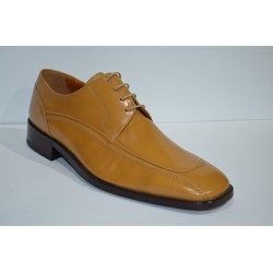 PACO CANTOS: Zapato de piel suela de cuero