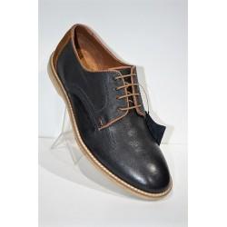PAREDES: Zapato piel azul marino