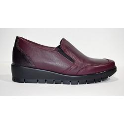 Descanflex: Zapato cómodo burdeos