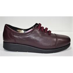 D'IVAN: Zapato cómodo burdeos
